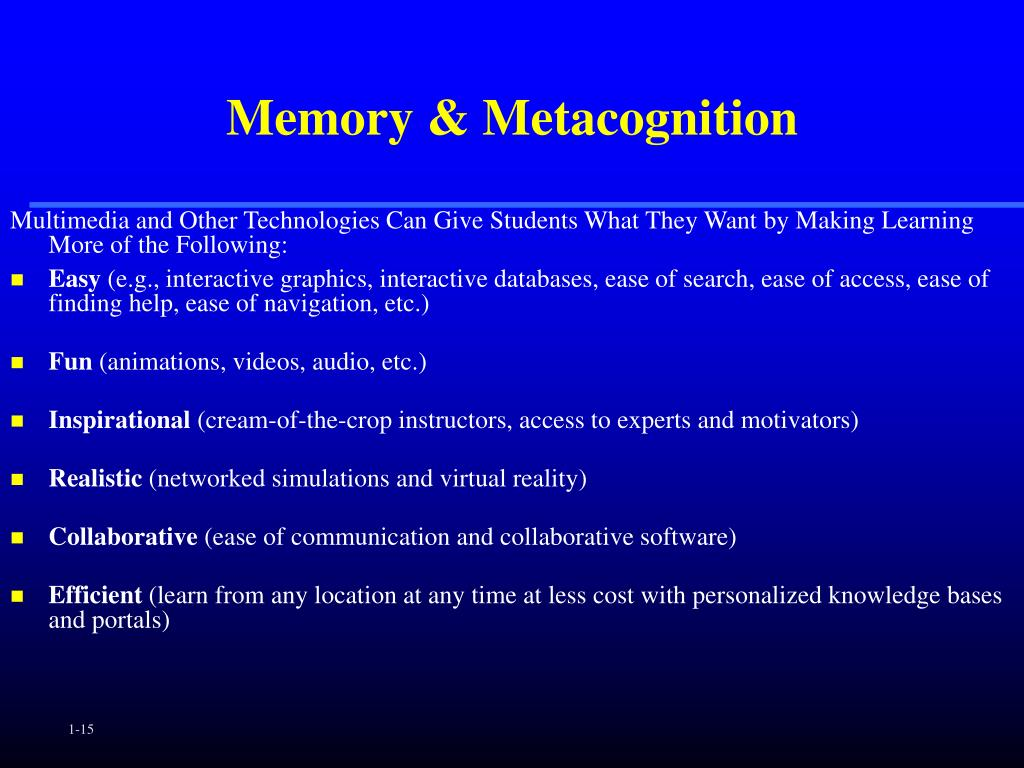 Memory & Metacognition