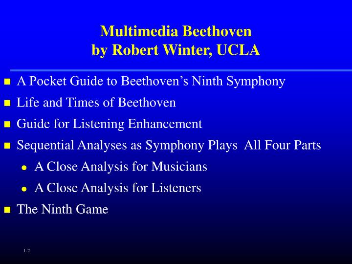Multimedia beethoven by robert winter ucla