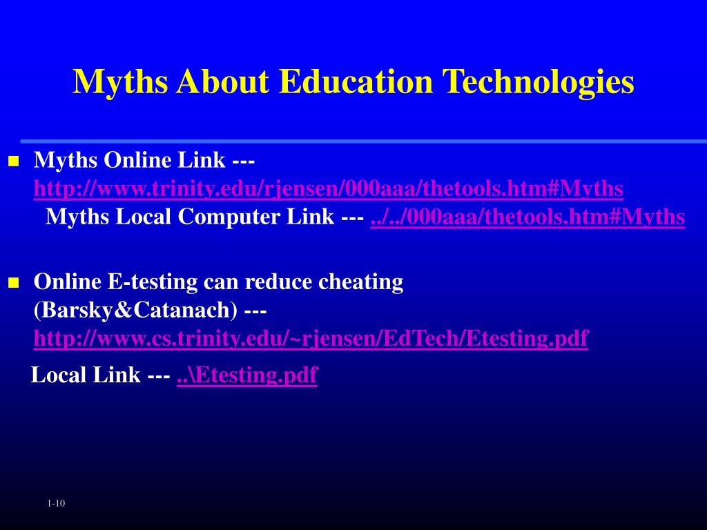 Myths About Education Technologies