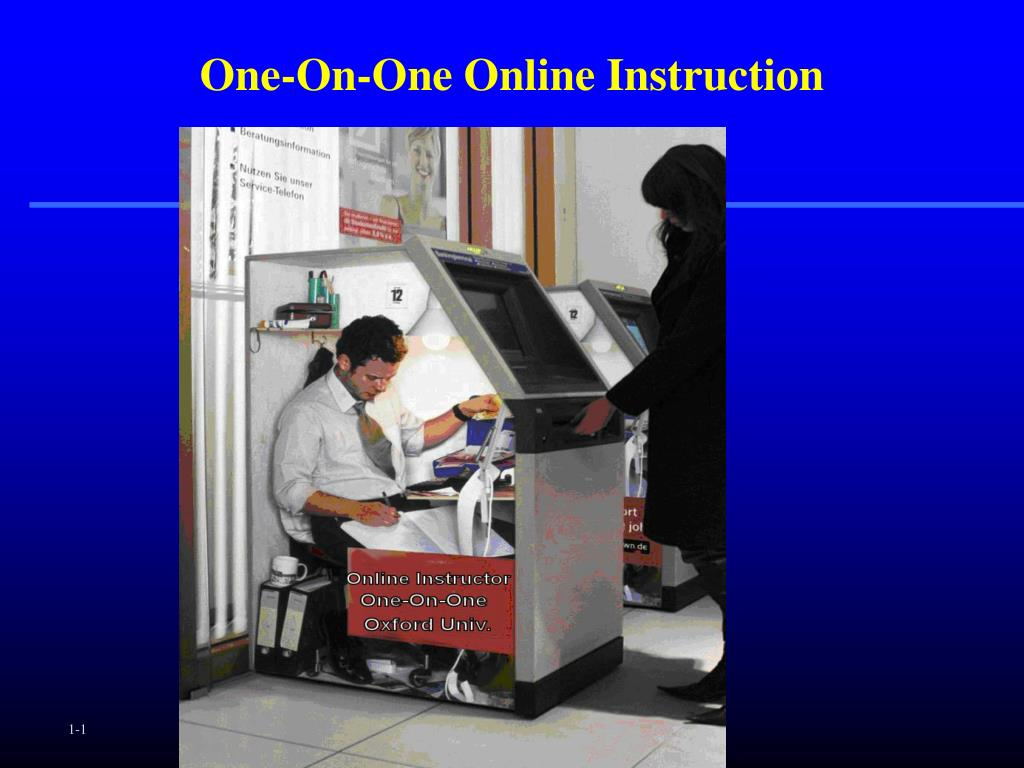 One-On-One Online Instruction