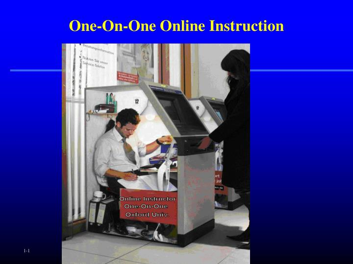 One on one online instruction