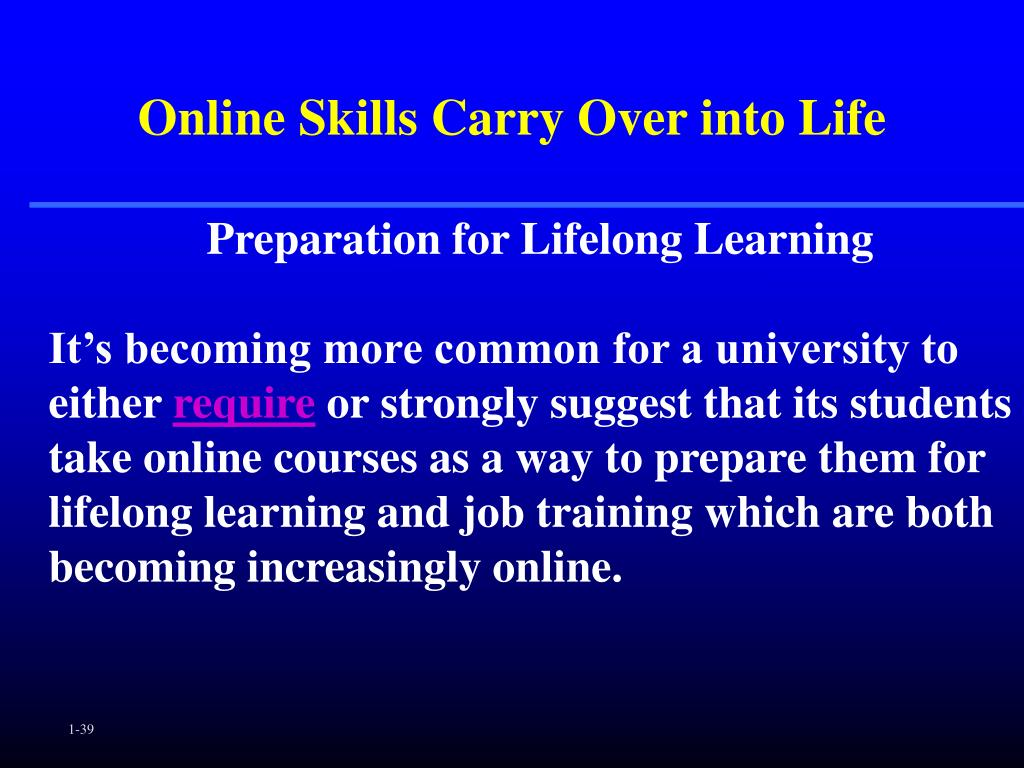 Online Skills Carry Over into Life