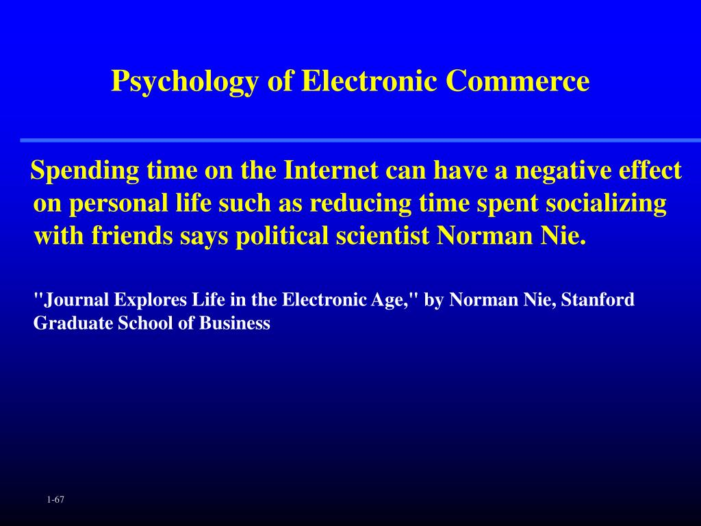 Psychology of Electronic Commerce