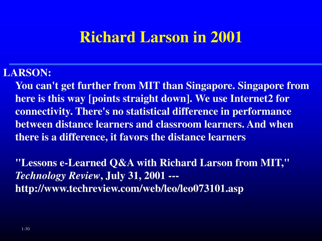 Richard Larson in 2001