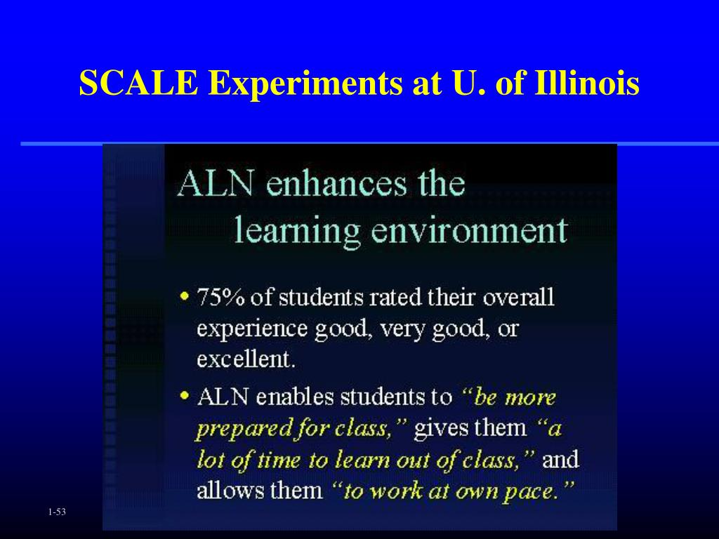SCALE Experiments at U. of Illinois