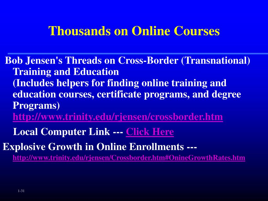 Thousands on Online Courses
