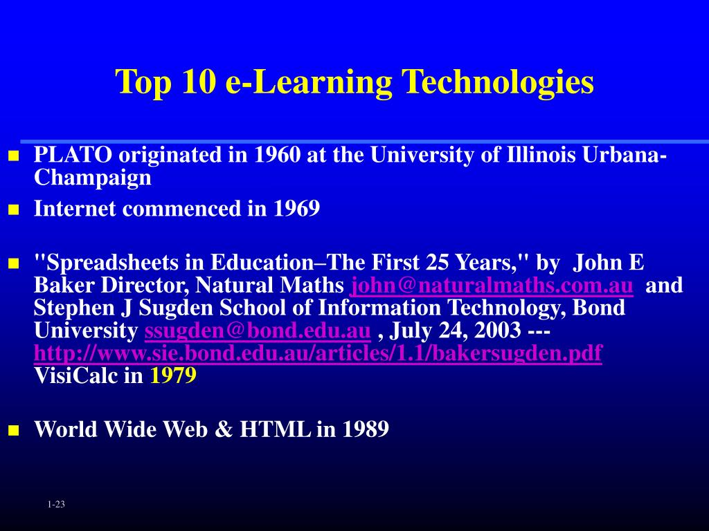 Top 10 e-Learning Technologies