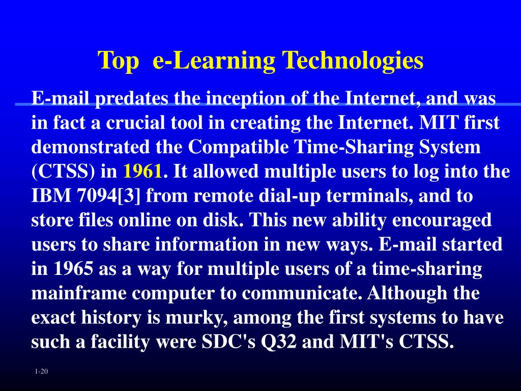 Top  e-Learning Technologies