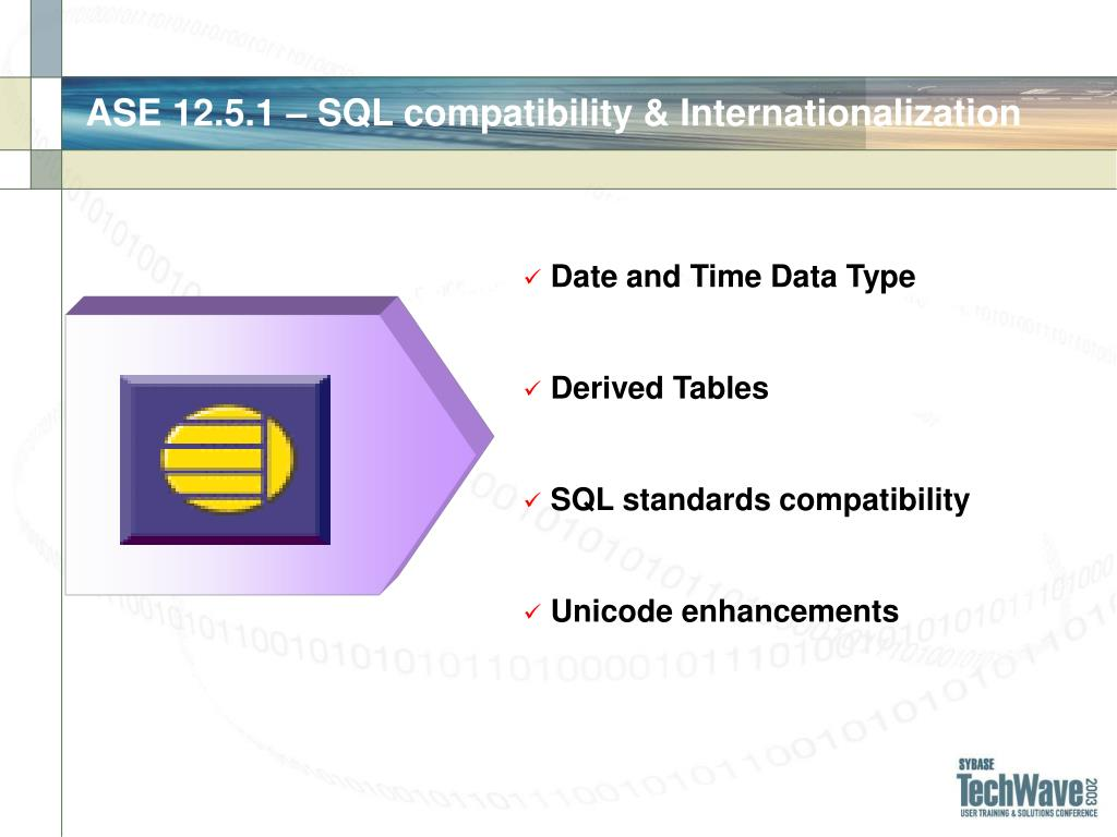 ASE 12.5.1 – SQL compatibility & Internationalization