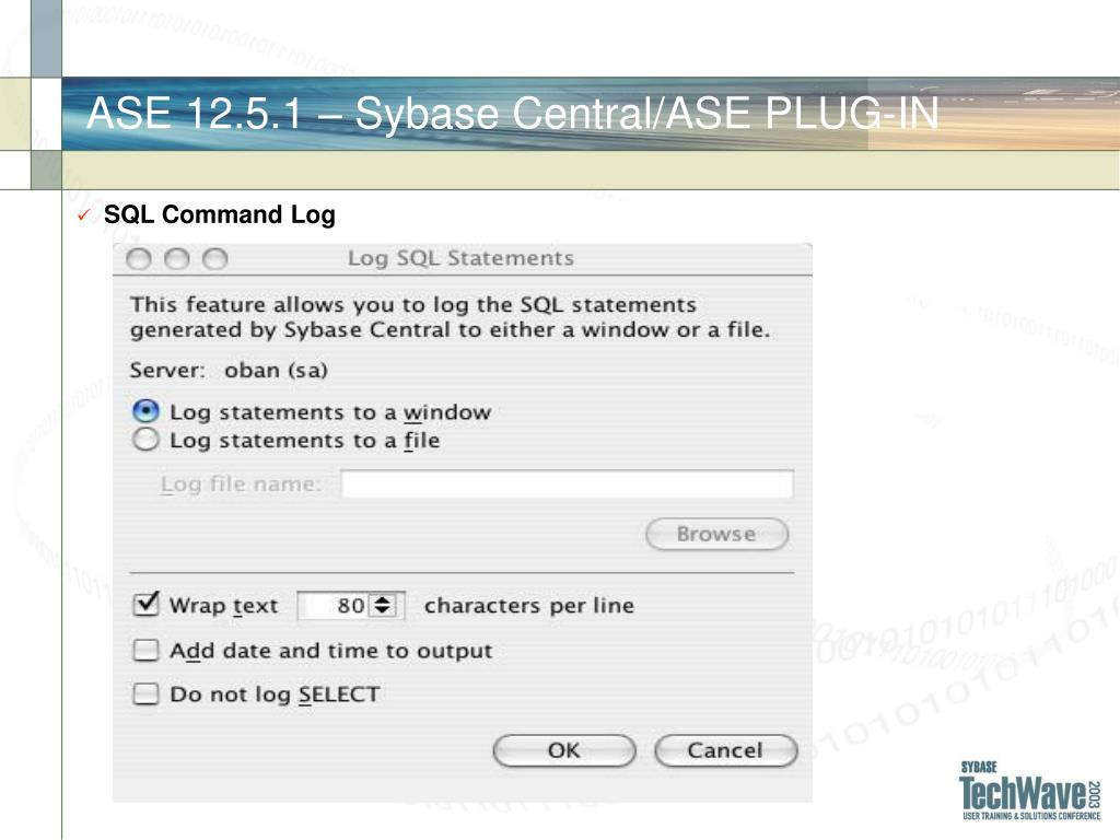 ASE 12.5.1 – Sybase Central/ASE PLUG-IN