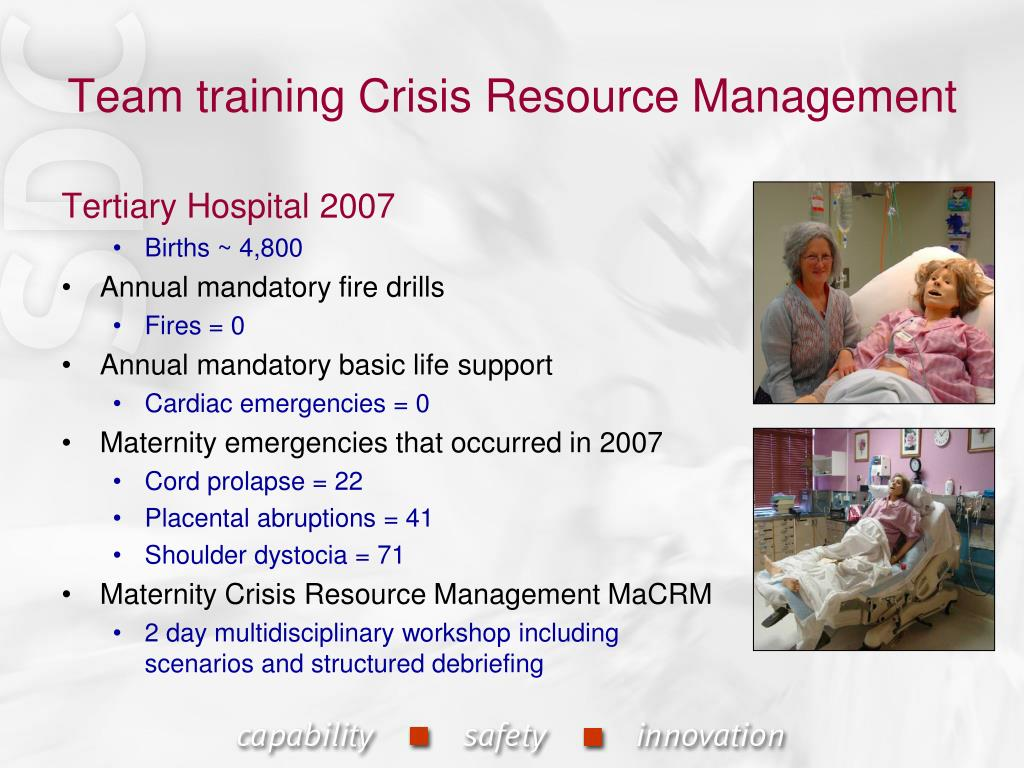 Team training Crisis Resource Management