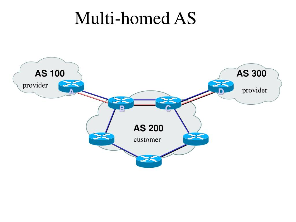 Multi-homed AS