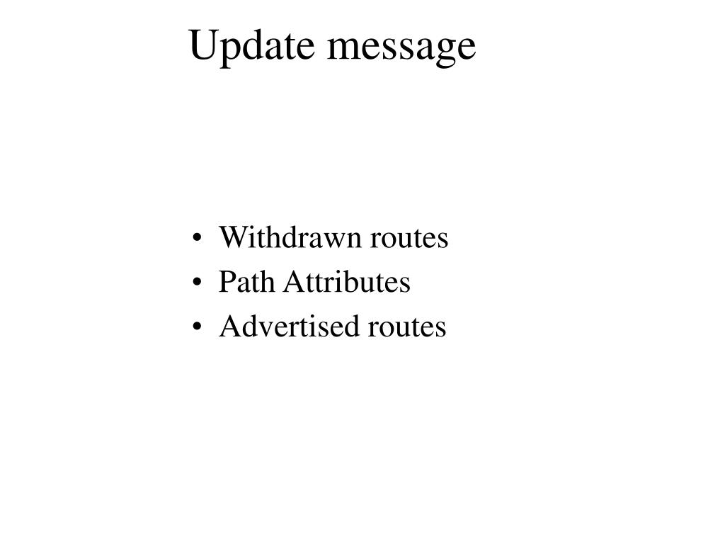 Update message