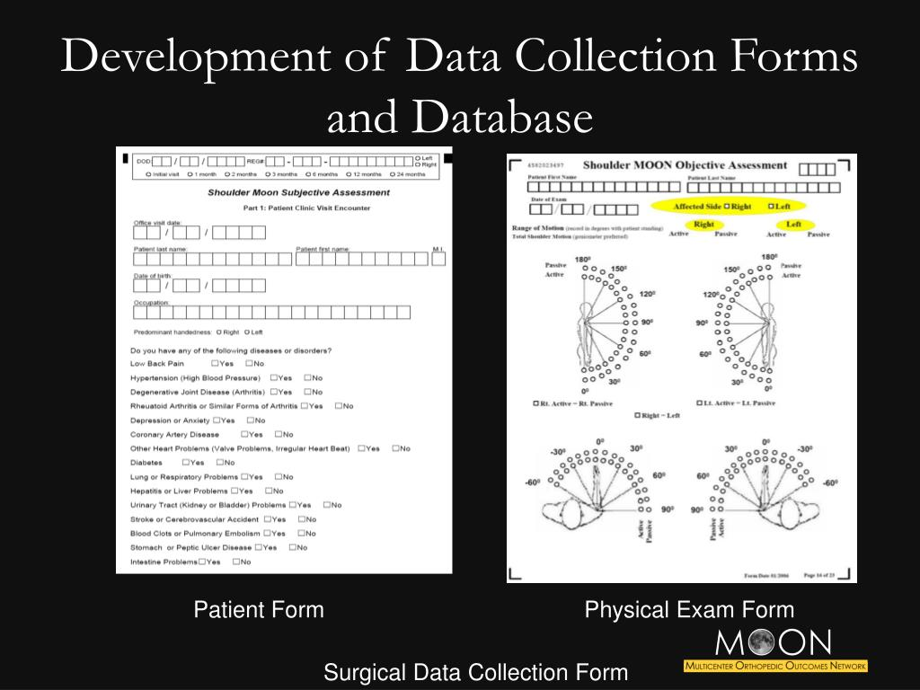 Development of Data Collection Forms and Database