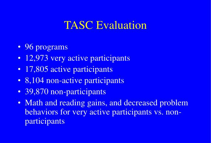 TASC Evaluation