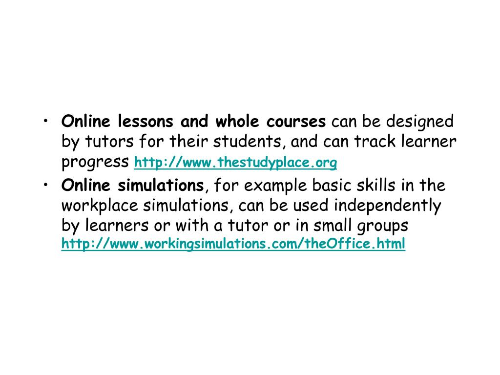 Online lessons and whole courses