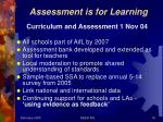 assessment is for learning1