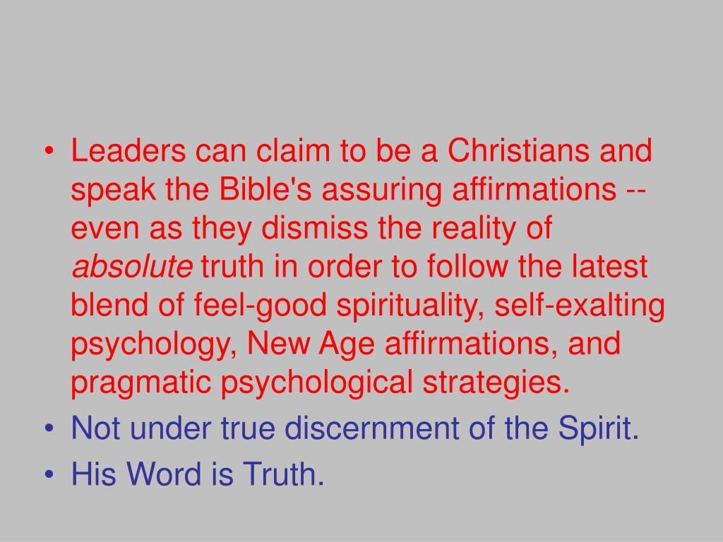 Leaders can claim to be a Christians and speak the Bible's assuring affirmations -- even as they dismiss the reality of