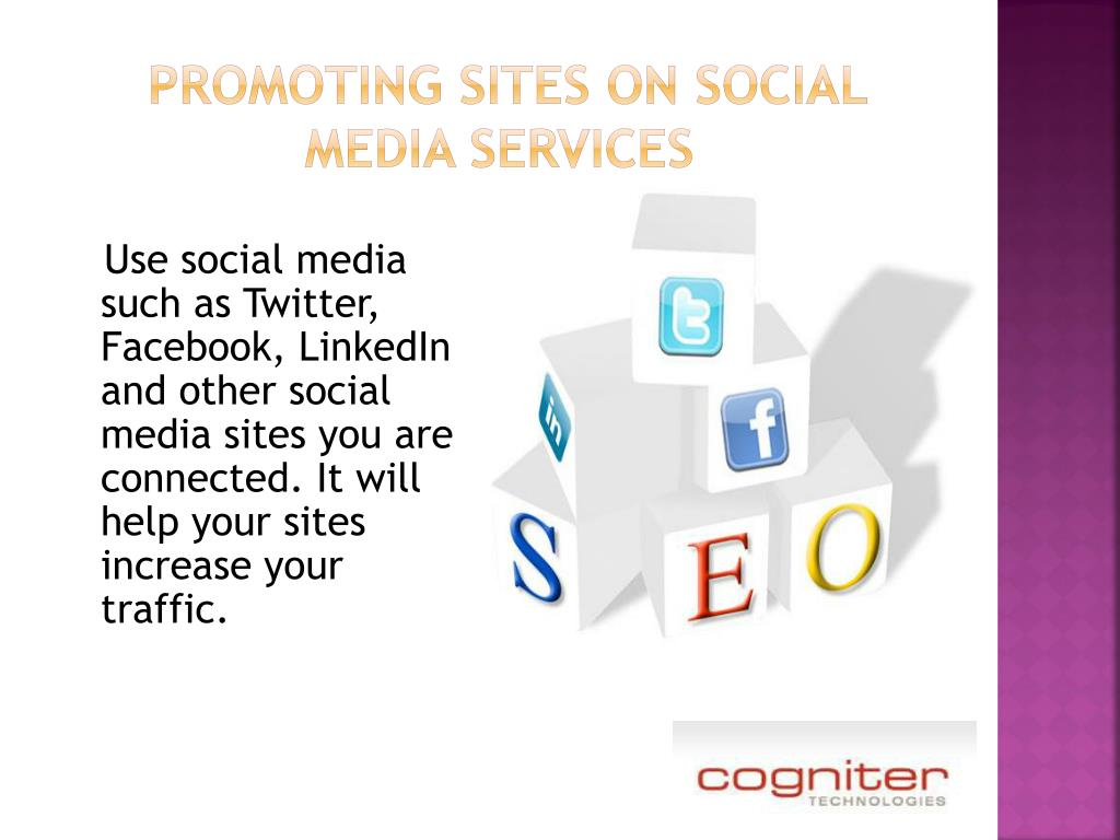 promoting sites on social media services