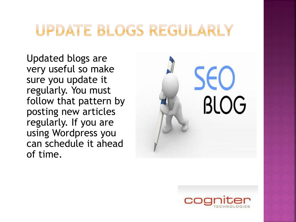 update blogs regularly