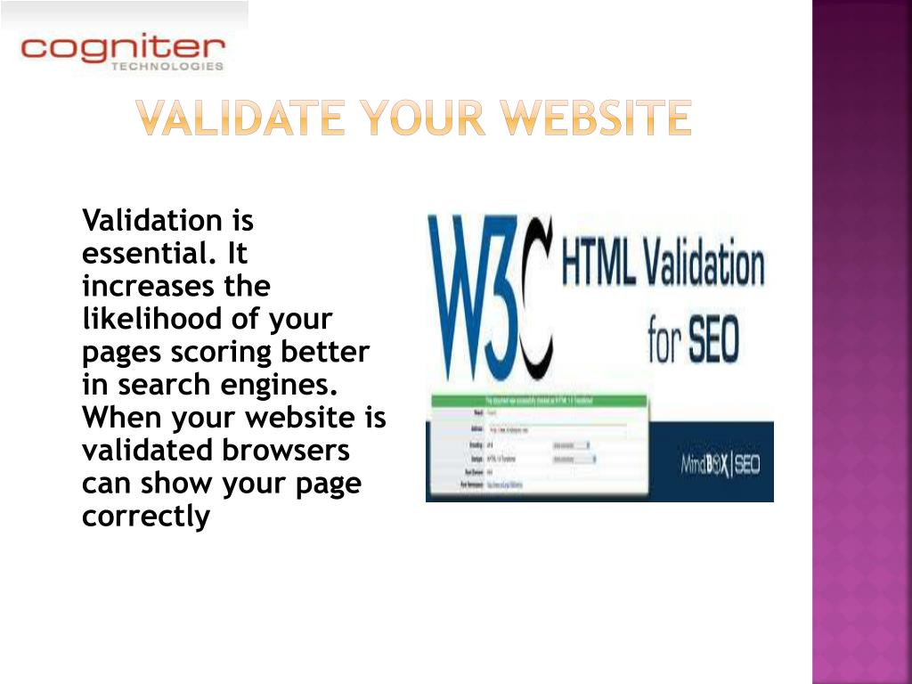 validate your website