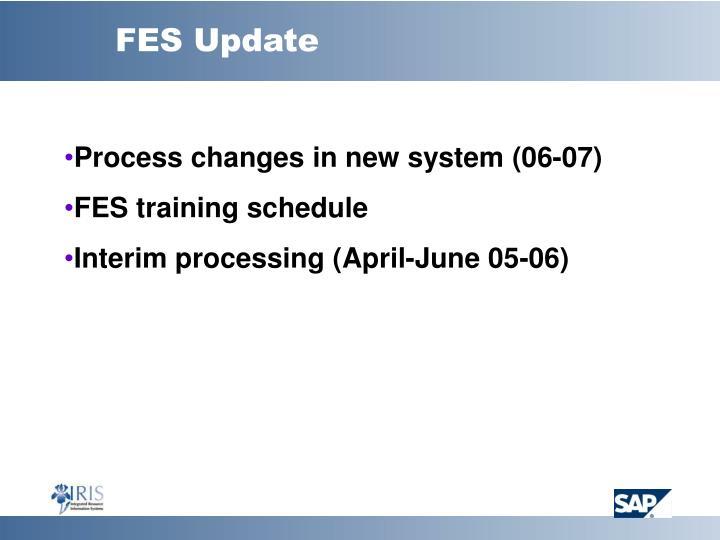 FES Update