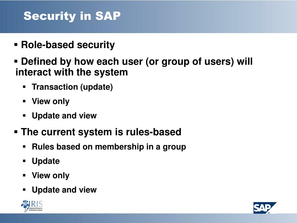 Security in SAP