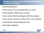 student payment and accounting issues committee report