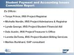 student payment and accounting issues committee report17
