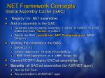 net framework concepts global assembly cache gac