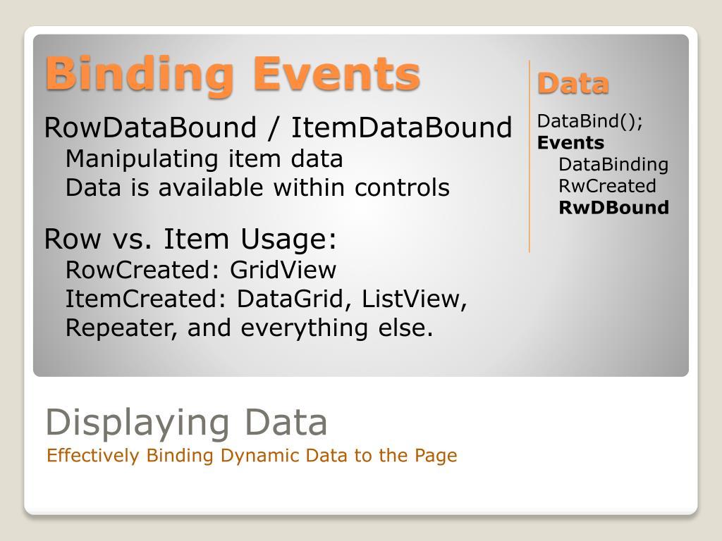 Binding Events