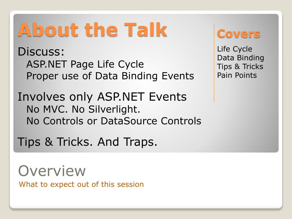 About the Talk