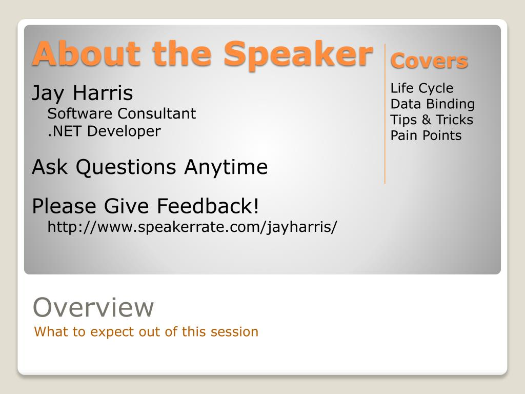 About the Speaker
