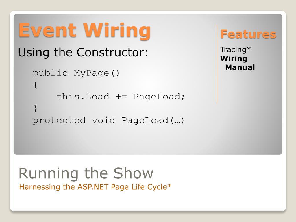 Event Wiring