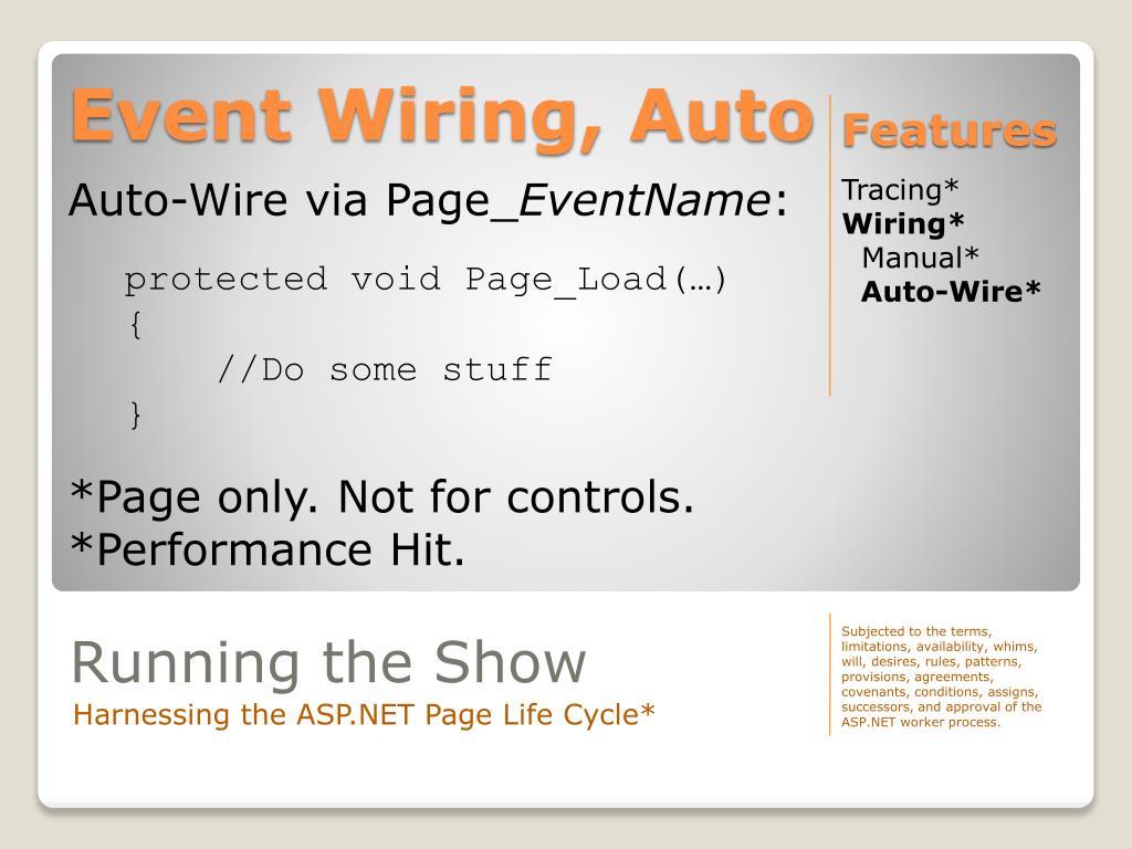 Event Wiring, Auto
