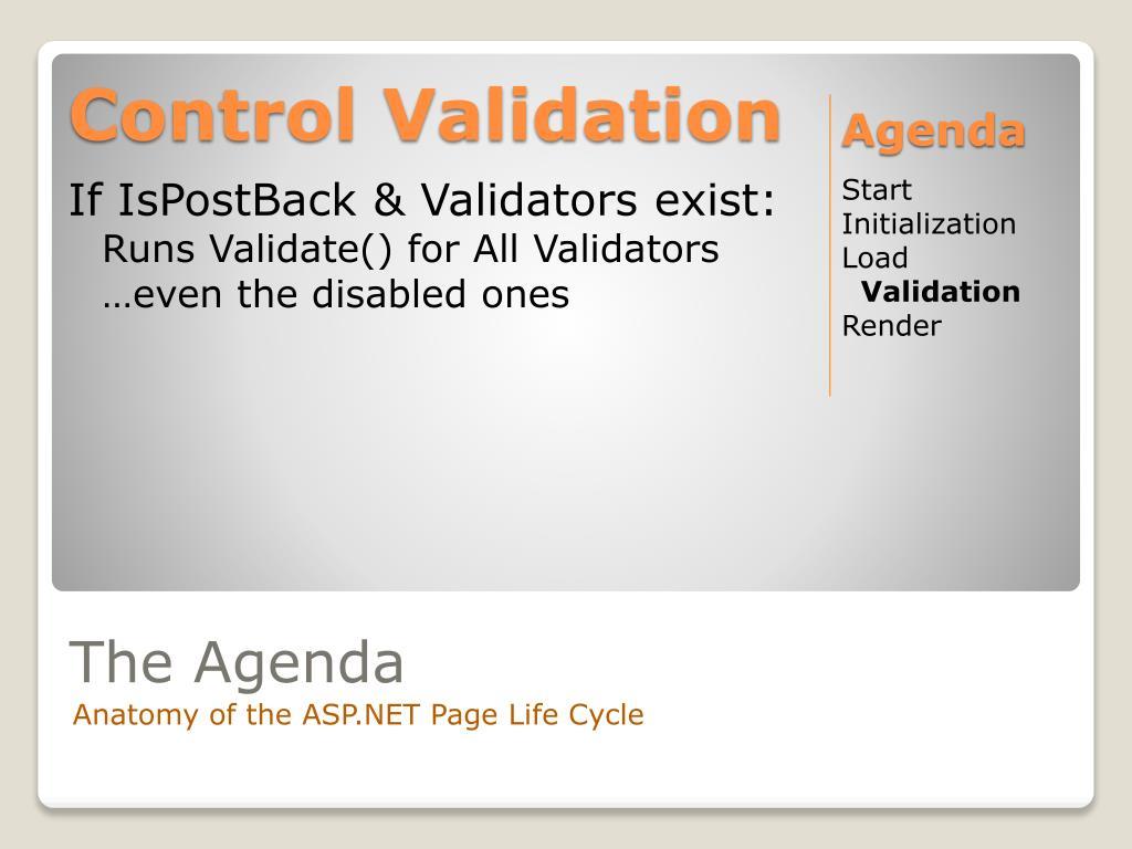 Control Validation