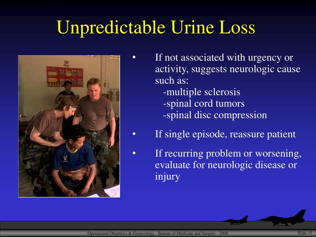 Unpredictable Urine Loss