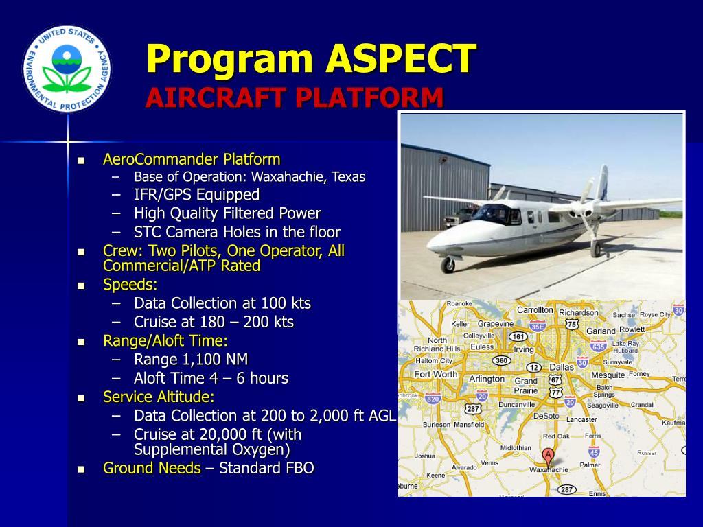 Program ASPECT