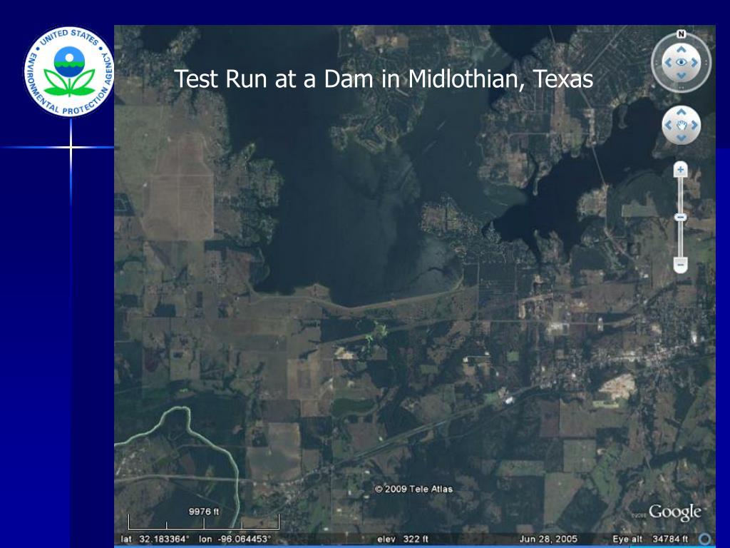 Test Run at a Dam in Midlothian, Texas