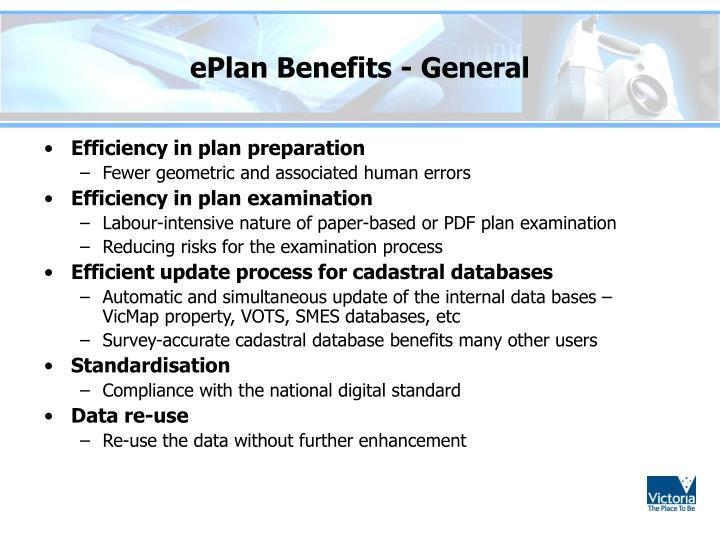 ePlan Benefits - General