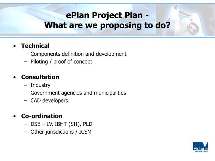 ePlan Project Plan -