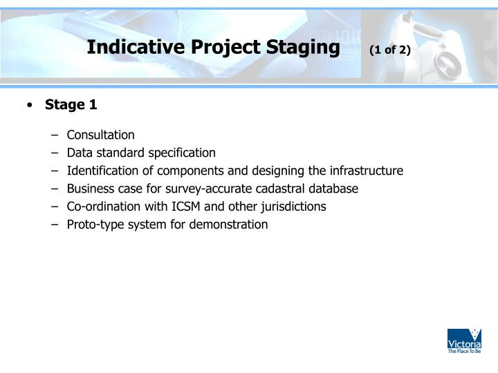 Indicative Project Staging