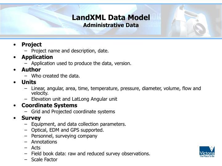 LandXML Data Model