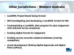 other jurisdictions western australia
