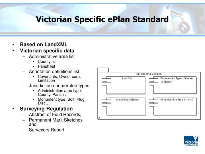 Victorian Specific ePlan Standard
