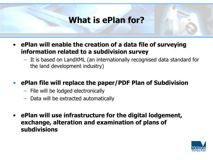 What is ePlan for?