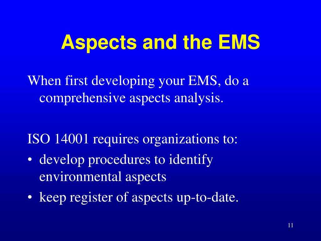 Aspects and the EMS