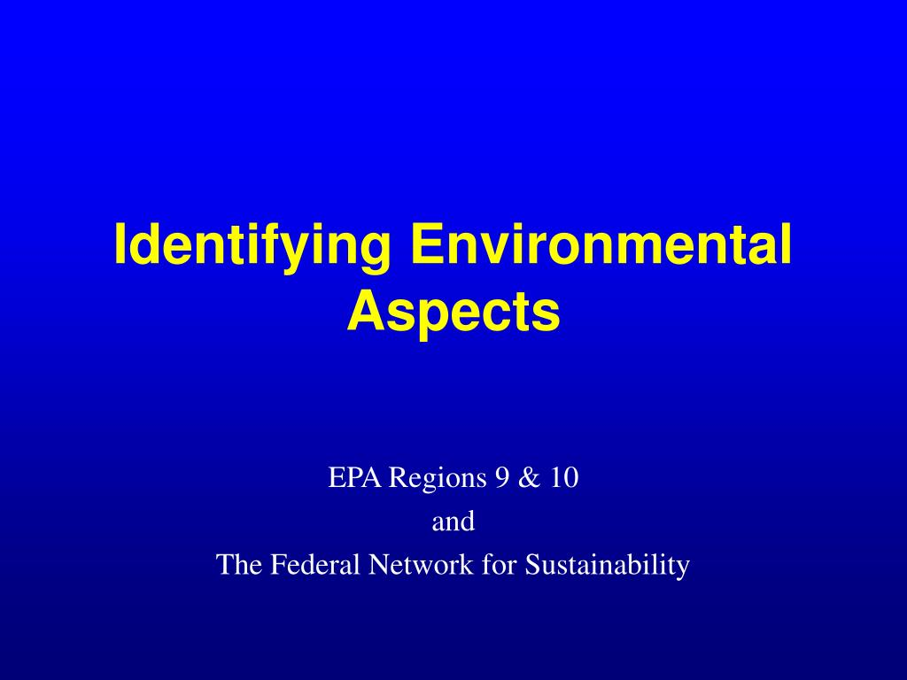 Identifying Environmental  Aspects