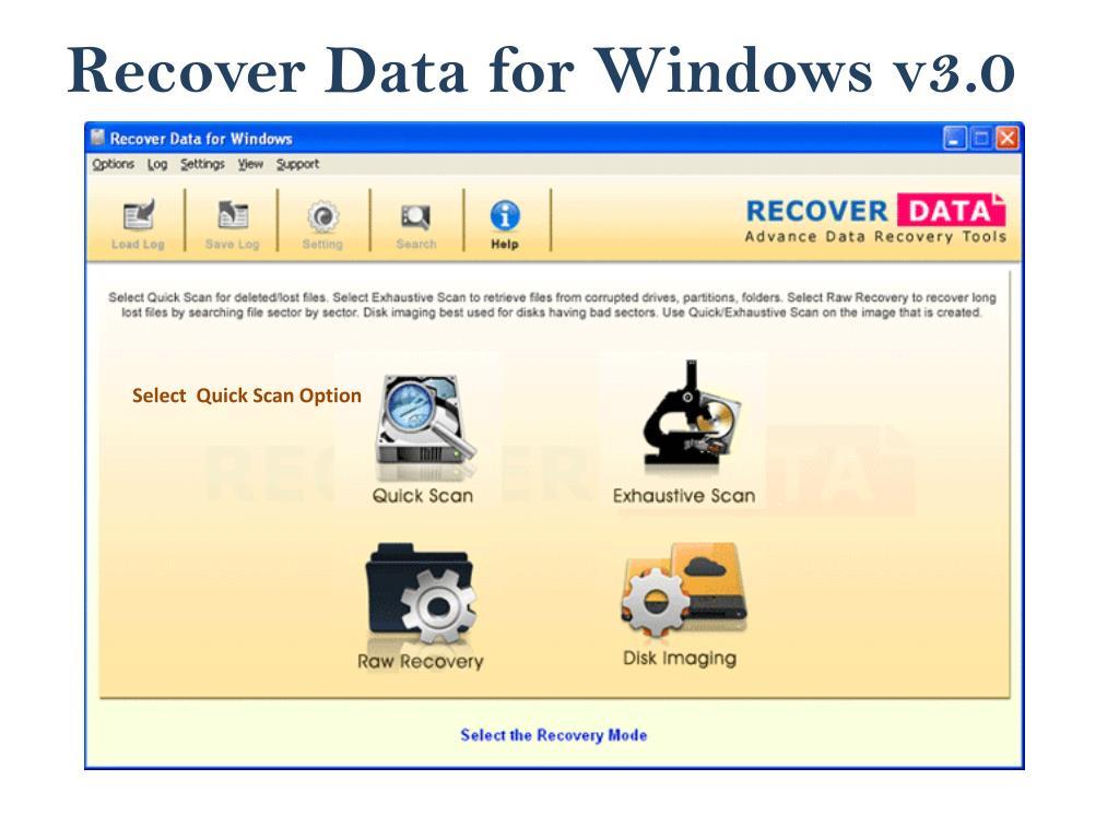 Recover Data for Windows v3.0