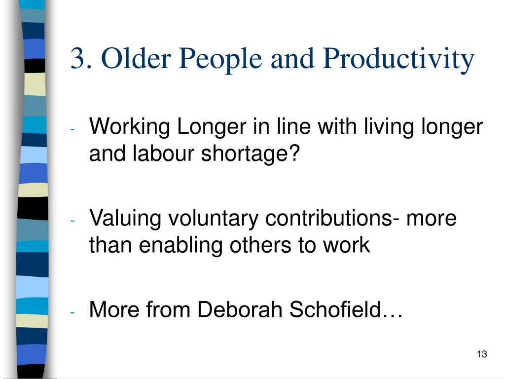 3. Older People and Productivity